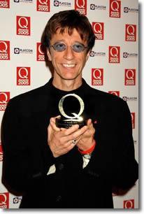 Robin alla cerimonia Q awards 2005