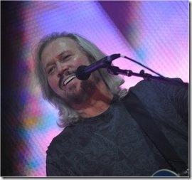 Barry Gibb durante l'esibizione a Sydney