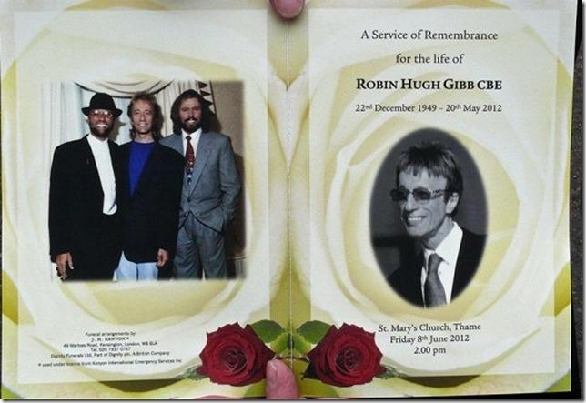 La cartolina commemorativa del funerale