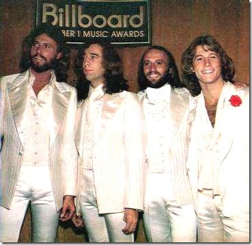 I fratelli Gibb: (da sinistra) Barry, Robin, Maurice ed Andy