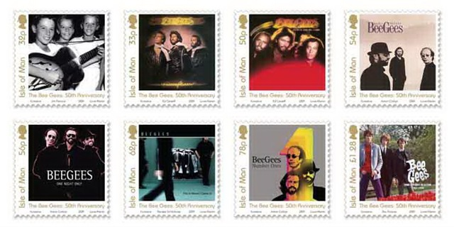 the Bee Gees 8 stamps Set